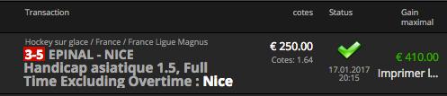 pronostic ligue magnus nice