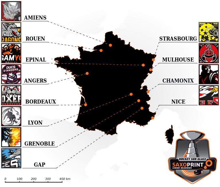 Carte Ligue Magnus 2017